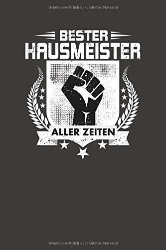 Bester Hausmeister Aller Zeiten: Punktiertes Notizbuch mit 120 Seiten zum festhalten für Eintragungen aller Art