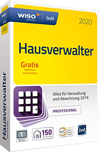 WISO Hausverwalter 2020 Professional - Die Profisoftware für alle Vermieter und Hausverwaltungen (WISO Steuer-Software)