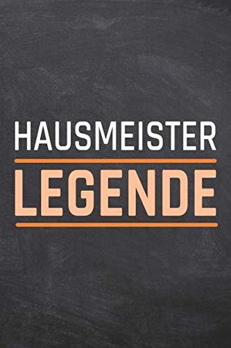 Hausmeister Legende: Hausmeister Punktraster Notizbuch, Notizheft oder Notizblock | 110  Seiten | Büro Equipment & Zubehör | Lustiges Geschenk zu Weihnachten oder Geburtstag